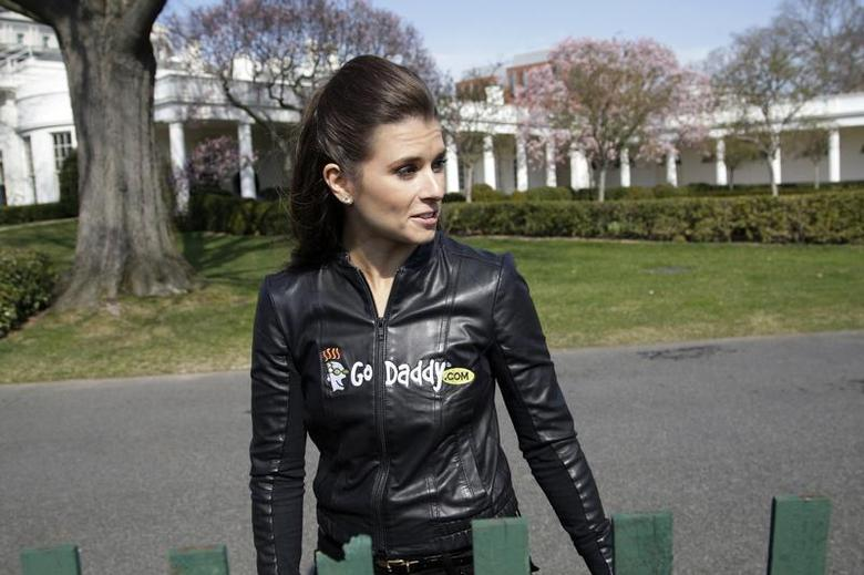 Race car driver Danica Patrick arrives to participate in the annual Easter Egg Roll on the South Lawn of the White House in Washington, April 1, 2013. REUTERS/Jonathan Ernst