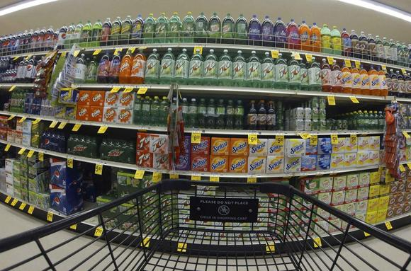 Numerous varieties of soda are shown for sale at a Vons grocery store in Encinitas, California October 10, 2013. REUTERS/Mike Blake