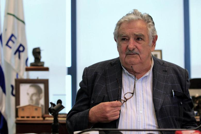Uruguay's President Jose Mujica holds a news conference at the Uruguayan Presidential Palace in Montevideo, October 2, 2013 file photo. REUTERS/Andres Stapff
