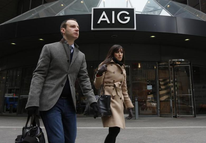 The AIG headquarters offices are seen in New York's financial district, January 9, 2013. REUTERS/Brendan McDermid