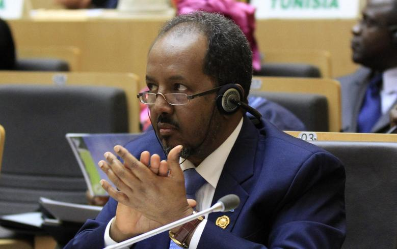 Somali's President Hassan Sheikh Mohamud attends the opening ceremony of the 22nd Ordinary Session of the African Union summit in Ethiopia's capital Addis Ababa, January 30, 2014. REUTERS/Tiksa Negeri
