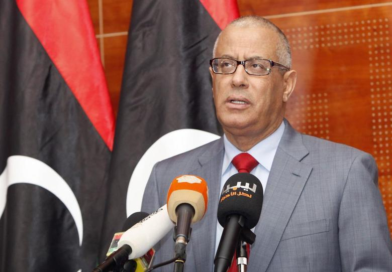 Libya's Prime Minister Ali Zeidan speaks during a news conference in Tripoli February 7, 2014. REUTERS/Ismail Zitouny