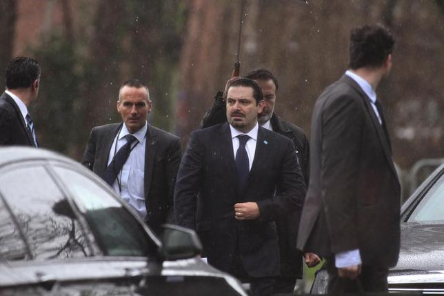Former Lebanese Prime Minister Saad Hariri (C) is seen at the Special Tribunal for Lebanon in The Hague January 16, 2014. REUTERS/Dalati Nohra/Handout via Reuters