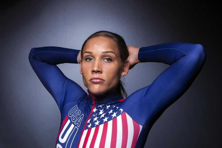 Olympic bobsledder Lolo Jones poses for a portrait during the 2013 U.S. Olympic Team Media Summit in Park City, Utah September 30, 2013. REUTERS/Lucas Jackson