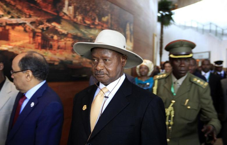 Uganda's President Yoweri Museveni arrives for the opening ceremony of the 22nd Ordinary Session of the African Union summit in Ethiopia's capital Addis Ababa, January 30, 2014. REUTERS/Tiksa Negeri