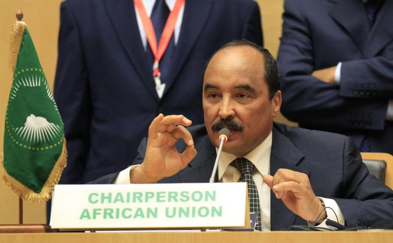 Mauritania's President and African Union chairman Mohamed Ould Abdel Aziz addresses a news conference during the closing ceremony of the 22nd Ordinary Session of the African Union summit in Ethiopia's capital Addis Ababa January 31, 2014. REUTERS/Tiksa Negeri