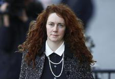 Former News International chief executive Rebekah Brooks arrives at the Old Bailey courthouse in London January 14, 2014. REUTERS/Andrew Winning