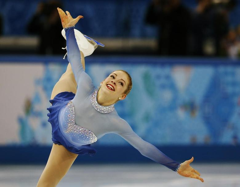 Gracie Gold of the United States competes during the Team Ladies Free Skating Program at the Sochi 2014 Winter Olympics, February 9, 2014. REUTERS/Alexander Demianchuk