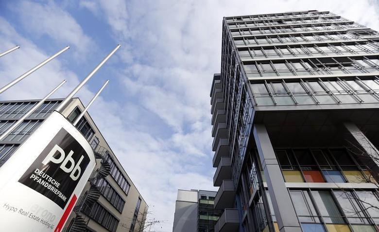 The headquarters of German property lender Hypo Real Estate/Deutsche Pfandbrief Bank pbb are pictured in Unterschleissheim near Munich November 13, 2012. REUTERS/Michael Dalder