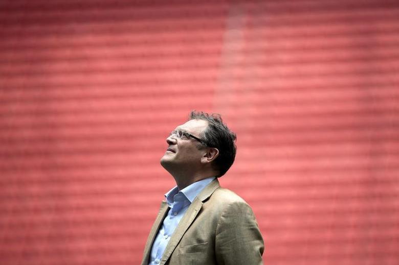 FIFA's Secretary General Jerome Valcke reacts during a visit to the Mane Garrincha National Stadium in Brasilia, February 17, 2014. REUTERS/Ueslei Marcelino