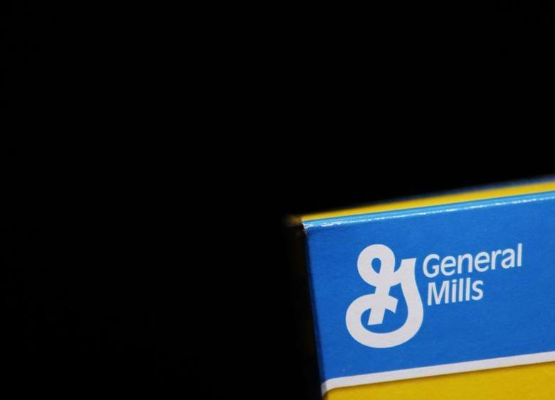 The General Mills logo is seen on a box of Cheerios cereal in Evanston, Illinois, June 26, 2012. REUTERS/Jim Young