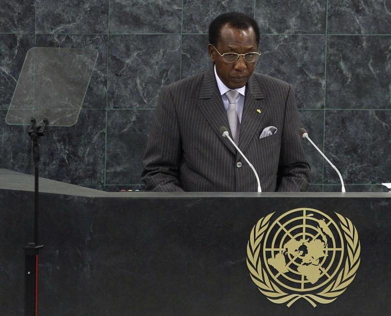 Chad's President Idriss Deby addresses the 68th United Nations General Assembly at UN headquarters in New York, September 25, 2013 file photo. REUTERS/Adam Hunger