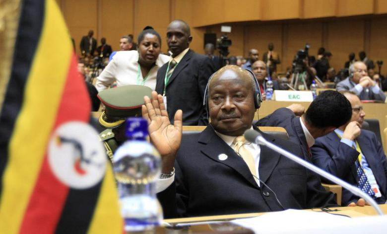 Uganda's President Yoweri Museveni attends the opening ceremony of the 22nd Ordinary Session of the African Union summit in Ethiopia's capital Addis Ababa, January 30, 2014. REUTERS/Tiksa Negeri