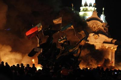 Ukraine police charge protesters after nation's...
