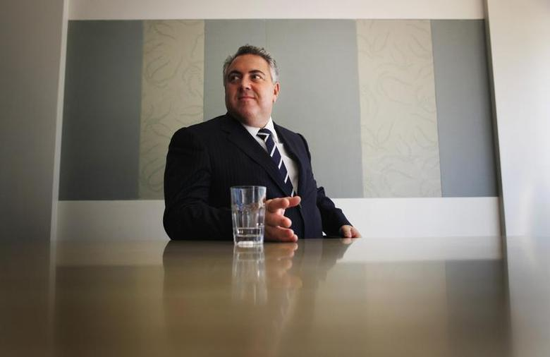 Australia's opposition treasury spokesman Joe Hockey answers questions during a Reuters' interview at his electorate office in North Sydney, March 26, 2012. REUTERS/Tim Wimborne