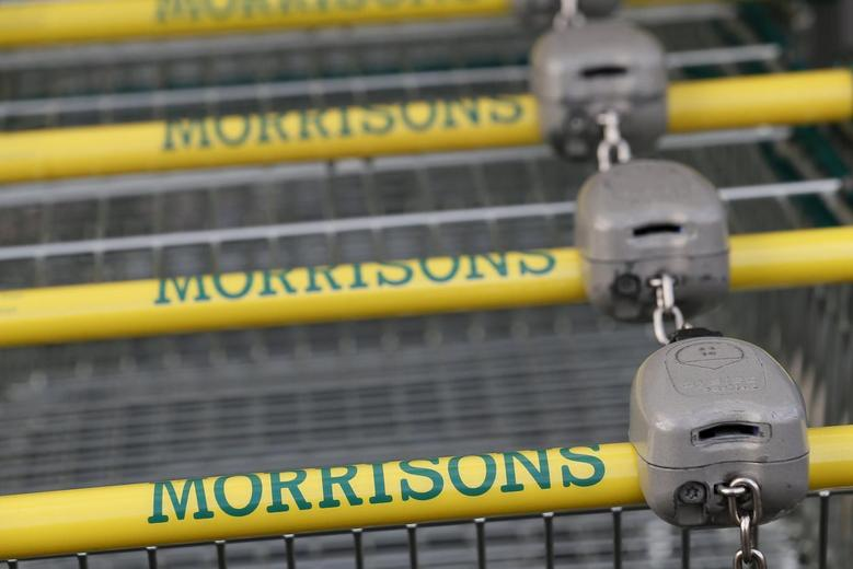 Shopping trolleys are seen at a Morrisons supermarket in London January 9, 2014. REUTERS/Stefan Wermuth