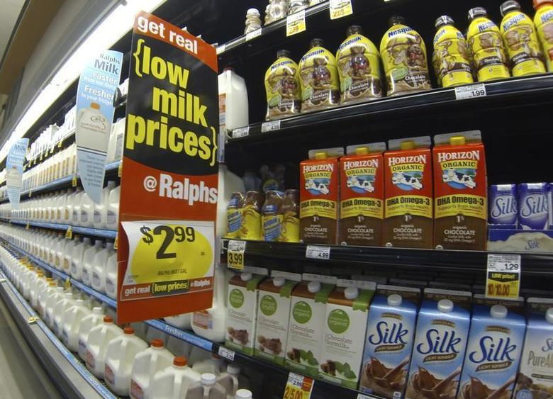 Milk is shown for sale at a Ralphs grocery store in Del Mar, California, March 6, 2013. REUTERS/Mike Blake