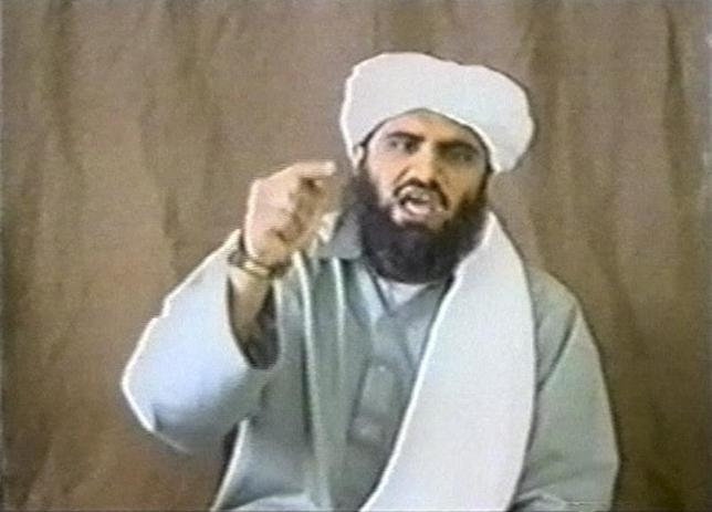 A man identified as Suleiman Abu Ghaith appears in this still image taken from an undated video address. REUTERS/Handout