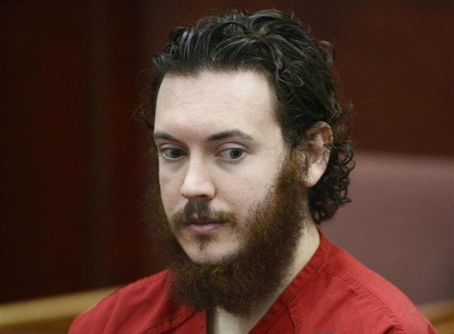 James Holmes sits in court for an advisement hearing at the Arapahoe County Justice Center in Centennial, Colorado in this file photo taken June 4, 2013. REUTERS/Andy Cross/Files