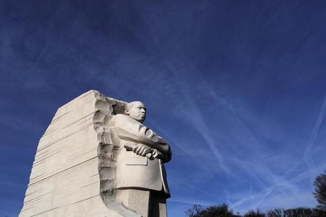 A general view of the Martin Luther King Jr. Memorial on the U.S. national holiday in his honor, in Washington, January 20, 2014. REUTERS/Jonathan Ernst