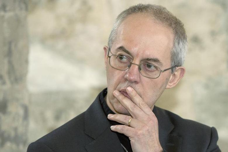 The Archbishop of Canterbury Justin Welby speaks during a news conference at Lambeth Palace in London February 20, 2014. REUTERS/Neil Hall