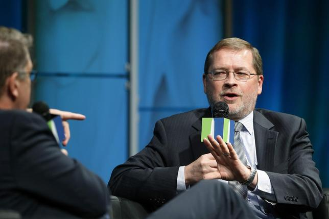 Americans for Tax Reform President Grover Norquist (R) participates in the Washington Ideas Forum at the Newseum in Washington November 13, 2013. REUTERS/Jonathan Ernst