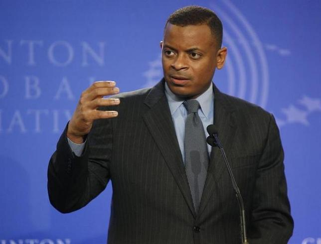 Mayor Anthony Foxx, announces a public-private partnership with Duke Energy, to use better technology to make Charlotte, NC, more energy efficient, at the Clinton Global Initiative in New York, September 23, 2010 file photo. REUTERS/Chip East