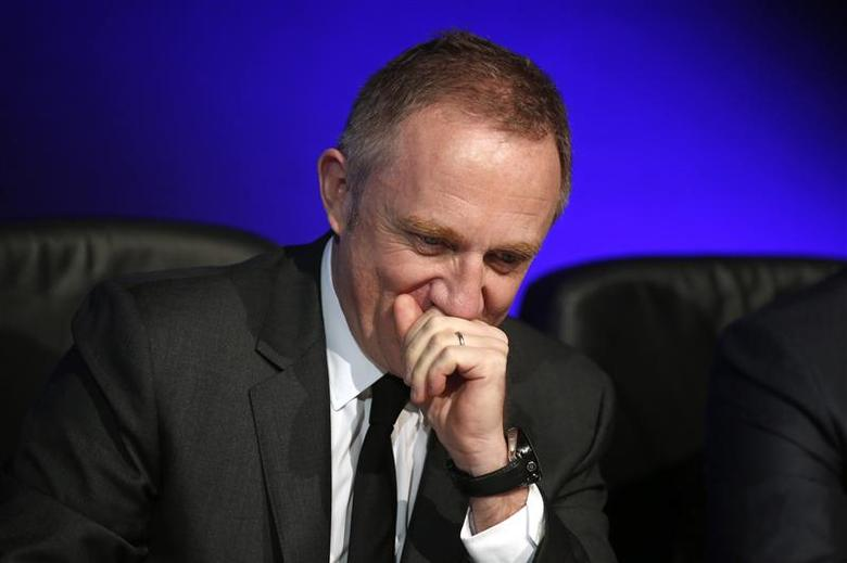Francois-Henri Pinault, CEO and Chairman of the board of directors of Kering, attends the company's 2013 results presentation in Paris February 21, 2014. REUTERS/Benoit Tessier