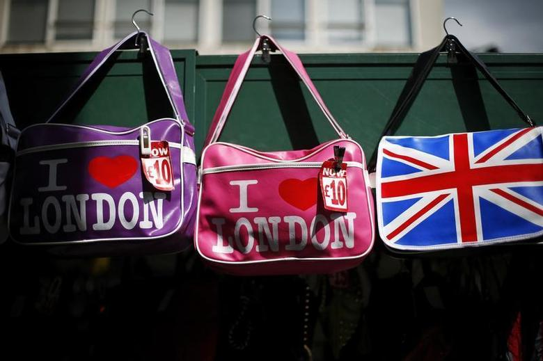 Novelty bags are seen for sale on a stall on Oxford Street in London August 6, 2013. REUTERS/Andrew Winning