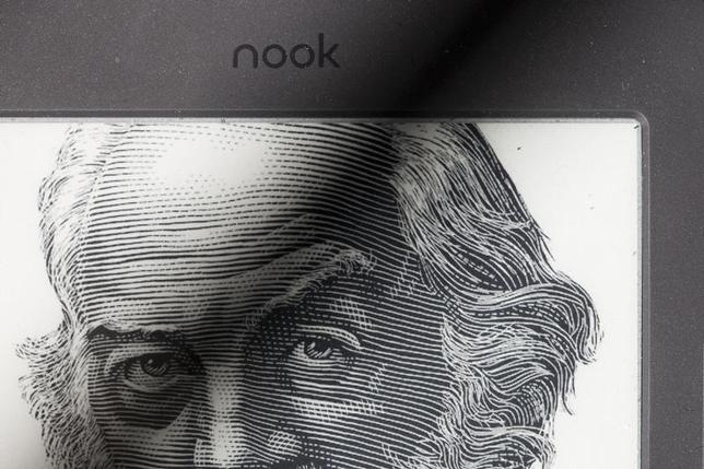 A portrait of Walt Whitman is shown on the home screen of a Nook reader from Barnes & Noble, which uses technology developed by E Ink Corporation, in Cambridge, Massachusetts October 25, 2012. REUTERS/Dominick Reuter