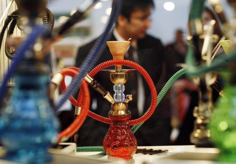 Smoking paraphernalia is seen during the ''Expocannabis'' fair on its opening day in Leganes, outside Madrid, January 26, 2007. REUTERS/Susana Vera