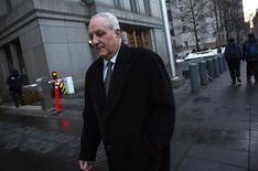 Daniel Bonventre, former back-office director for Bernard L. Madoff Investment Securities LLC, exits Manhattan Federal Courthouse in New York February 18, 2014. REUTERS/Eric Thayer