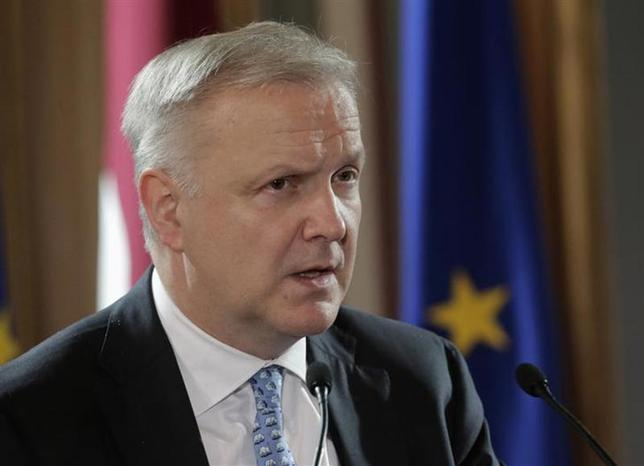 Vice-President of the European Commission Olli Rehn speaks during the event hosted in honour of the Euro introduction in Latvia in Riga January 10, 2014. REUTERS/Ints Kalnins