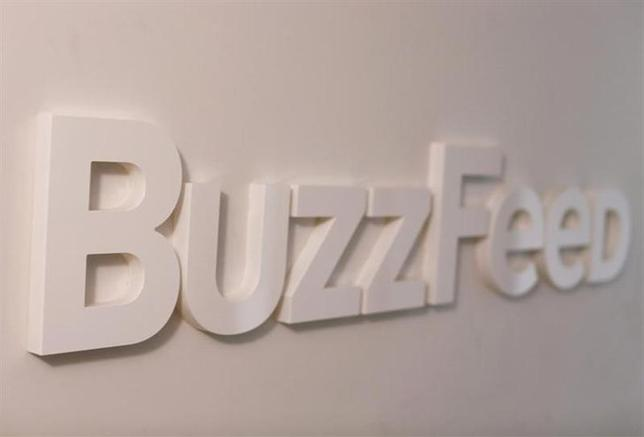 The BuzzFeed logo is seen outside their offices in New York February 19, 2013. REUTERS/Shannon Stapleton/Files