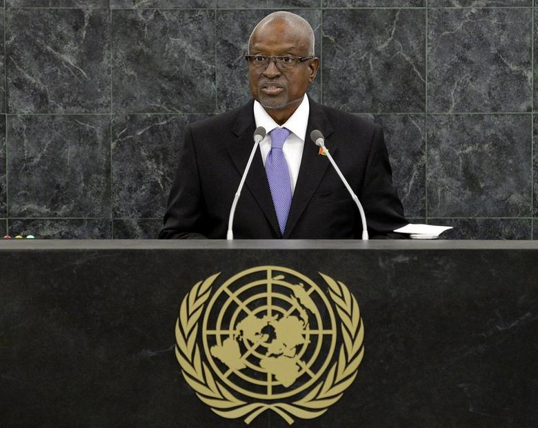 Manuel Serifo Nhamadjo, Interim President of Guinea-Bissau, addresses the 68th United Nations General Assembly at U.N. headquarters in New York, September 26, 2013. REUTERS/Justin Lane/Pool