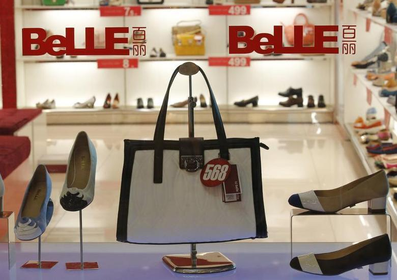 Products of Belle are seen at a show window at its store in Beijing in this March 25, 2013 file photo. REUTERS/Kim Kyung-Hoon/Files