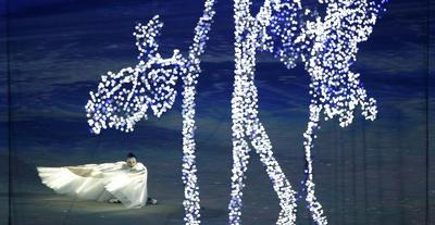 Russia lightens up with softer image at closing...