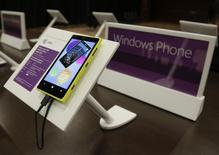 A Windows Nokia Phone is seen on display at Microsoft's annual shareholder meeting in Bellevue, Washington November 19, 2013. REUTERS/Jason Redmond