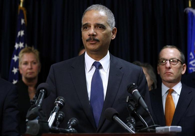 Attorney General Eric Holder speaks at a news conference in New Orleans November 15, 2012. REUTERS/Jonathan Bachman