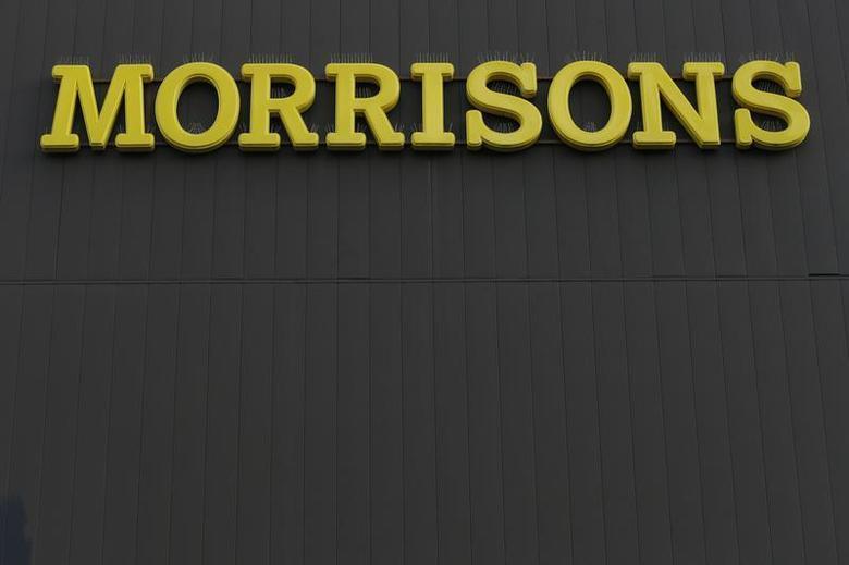 A Morrisons sign is seen outside a supermarket in London January 9, 2014. REUTERS/Stefan Wermuth