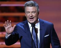 Host Alec Baldwin speaks during the NFL Honors award show in New York in this file photo taken February 1, 2014. REUTERS/Carlo Allegri/Files