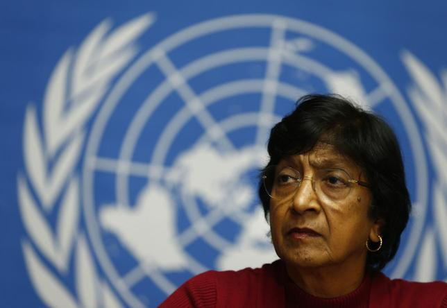 U.N. High Commissioner for Human Rights Navi Pillay attends a news conference at the United Nations European headquarters in Geneva December 2, 2013. REUTERS/Denis Balibouse