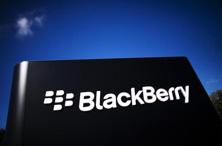 The company logo is see at the Blackberry campus in Waterloo, September 23, 2013. REUTERS/Mark Blinch/Files