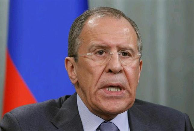 Russia's Foreign Minister Sergei Lavrov attends a news conference after a meeting with his German counterpart Frank-Walter Steinmeier in Moscow, February 14, 2014. REUTERS/Maxim Shemetov