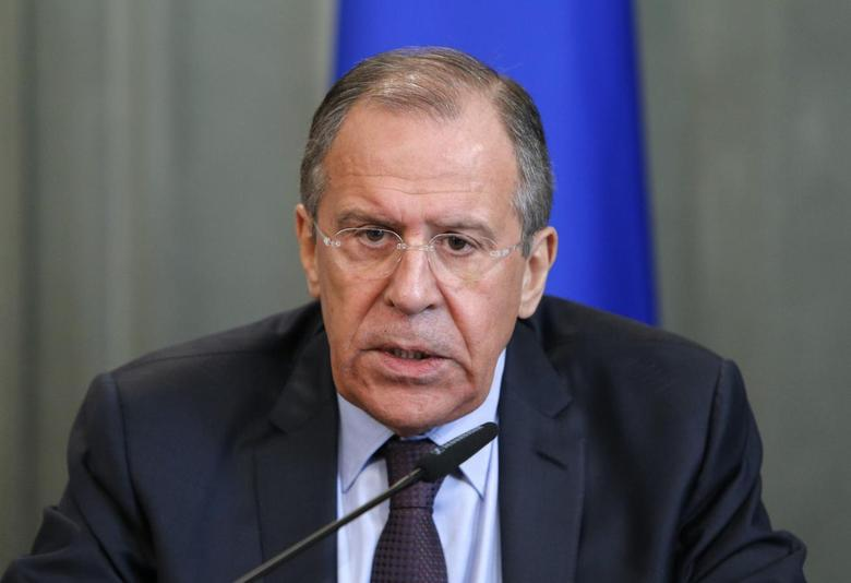 Russian Foreign Minister Sergei Lavrov takes part in a news conference in Moscow February 25, 2014. REUTERS/Maxim Shemetov