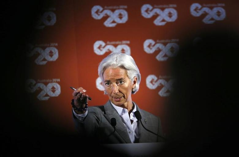 International Monetary Fund (IMF) Managing Director Christine Lagarde takes a question at a news conference during the G20 Central Bank Governors and Finance Ministers annual meeting in Sydney, February 23, 2014. REUTERS/Jason Reed