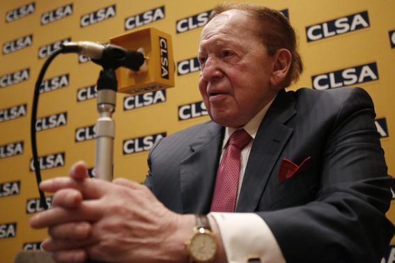 Las Vegas Sands Corp Chairman and Chief Executive Officer Sheldon Adelson attends a news conference in Tokyo in this February 24, 2014 file photo. REUTERS/Yuya Shino/Files