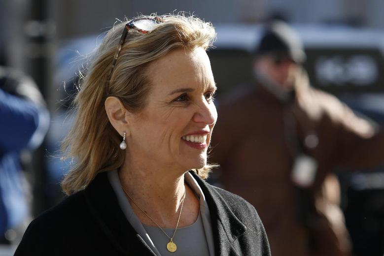 Kerry Kennedy, daughter of assassinated Senator Robert F. Kennedy and the ex-wife of New York Governor Andrew Cuomo, arrives to the Westchester County Courthouse in White Plains, New York, February 24, 2014. REUTERS/Eduardo Munoz