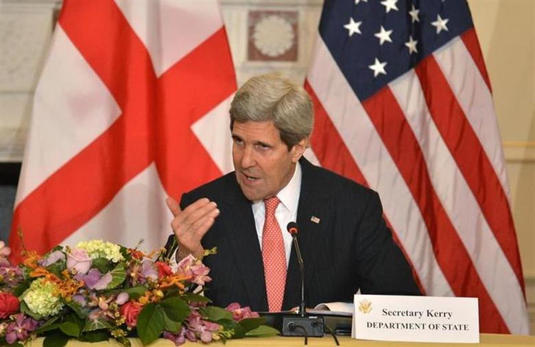 U.S. Secretary of State John Kerry is seen in this photo taken at the State Department in Washington February 26, 2014. REUTERS/Mike Theiler