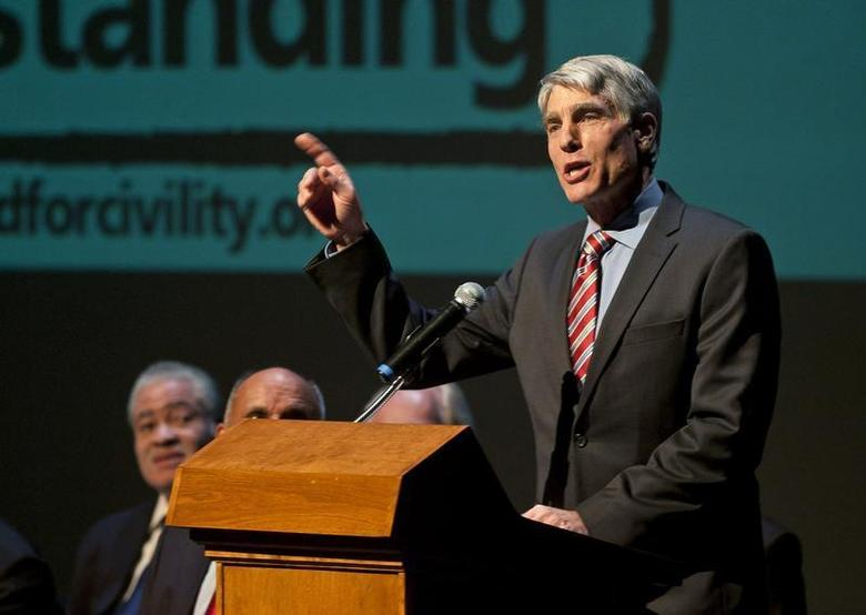 U.S. Senator Mark Udall speaks during a memorial service marking the anniversary of the Tuscon shooting, at the University of Arizona campus January 8, 2012. REUTERS/Laura Segall